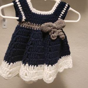 Crochet infant dress